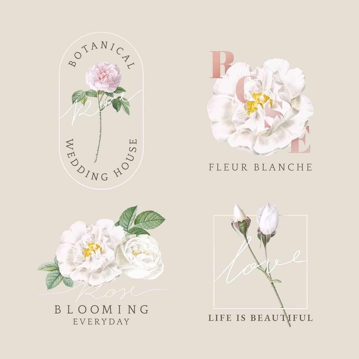 Florist branding logo collection vector