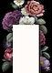 Beautiful hand drawn flower themed invitation card template