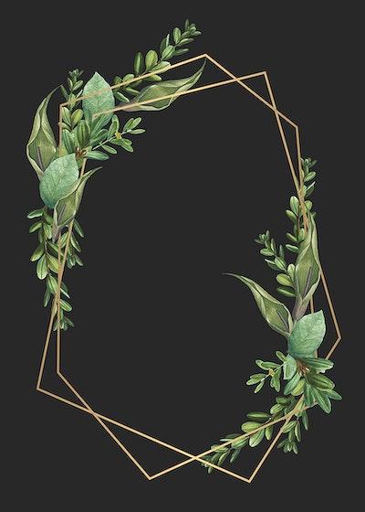 Download premium illustration of Tropical botanical frame design vector