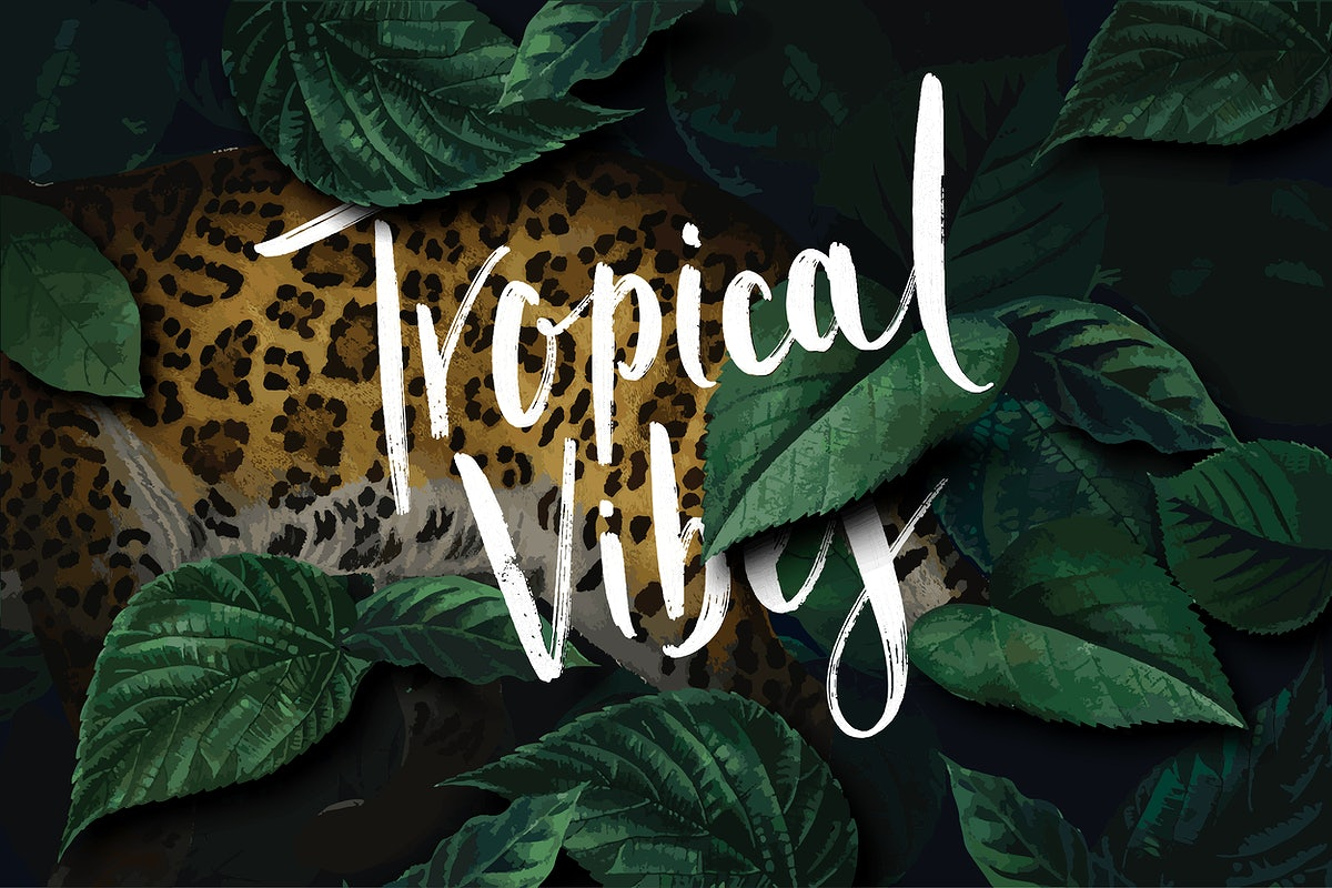 Tropical Vibes Poster Royalty Free Vector 842127