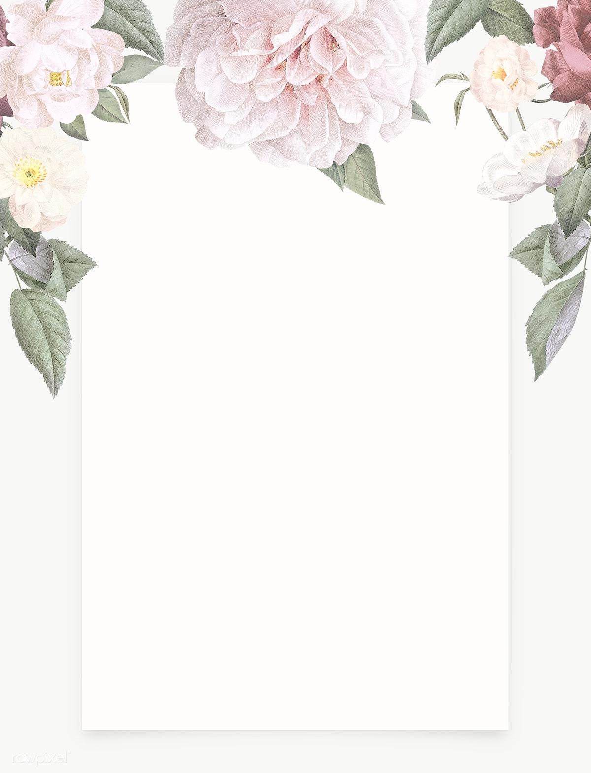 Feminine flowers border | Royalty free transparent png ...