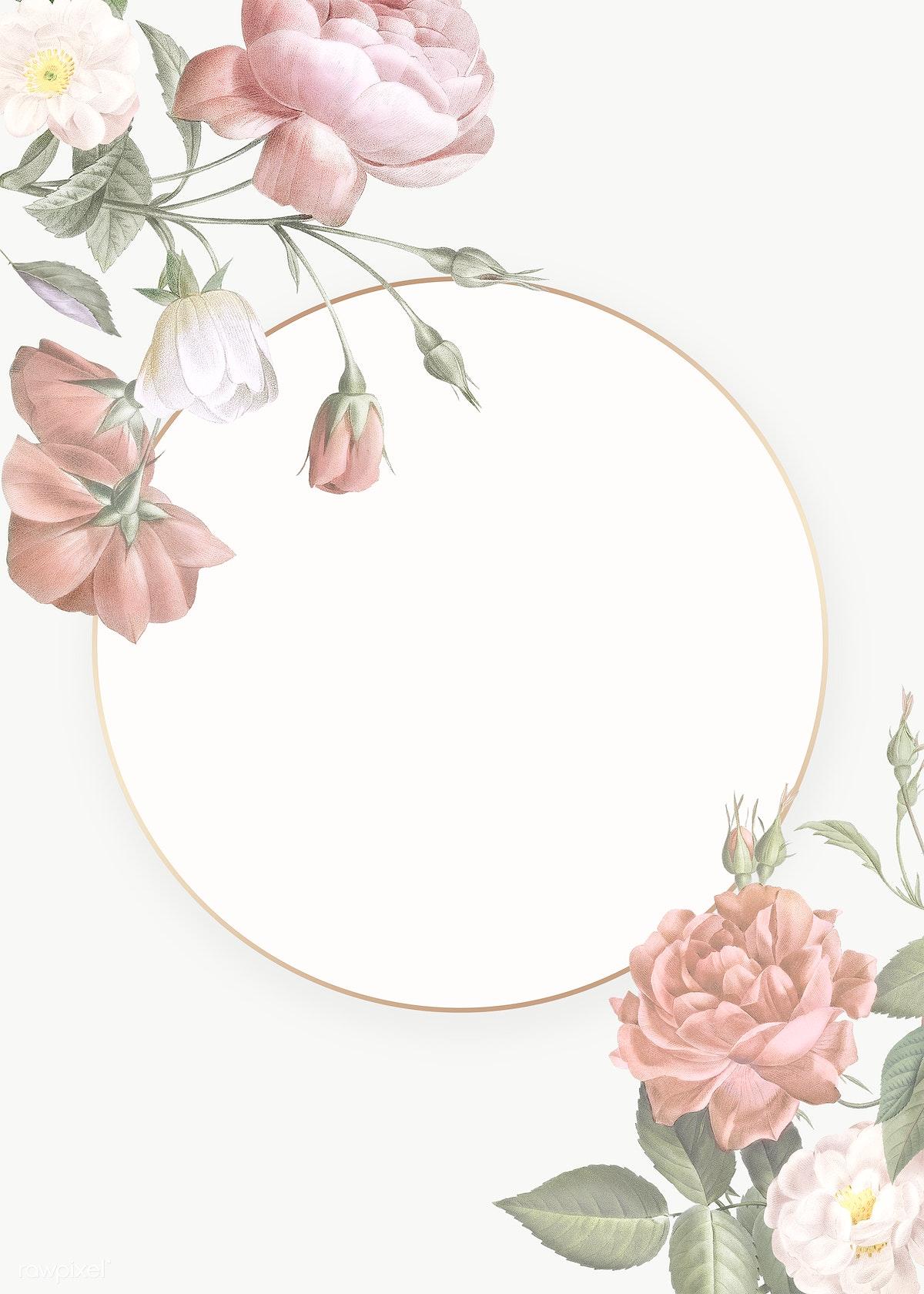 Feminine flowers border | Royalty free stock illustration ...
