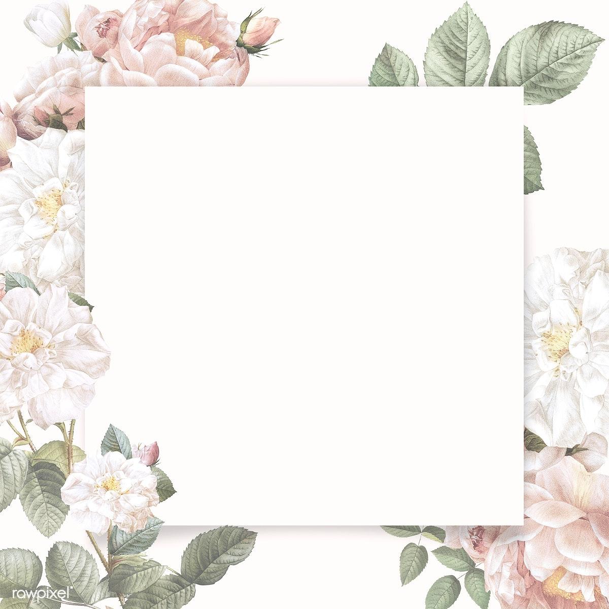 Download premium illustration of Blank elegant floral frame design 842515