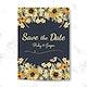 Save the date wedding invitation mockup vector