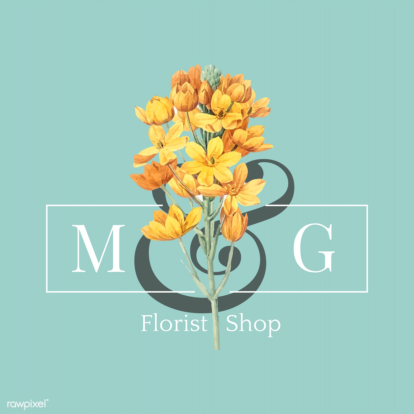 Flower Brand Logo Template Free Stock Vector 564217