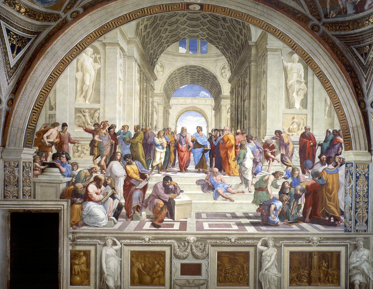 Raphael's The School of Athens (1511) famous painting. Original from Wikimedia Commons. Digitally enhanced by rawpixel.
