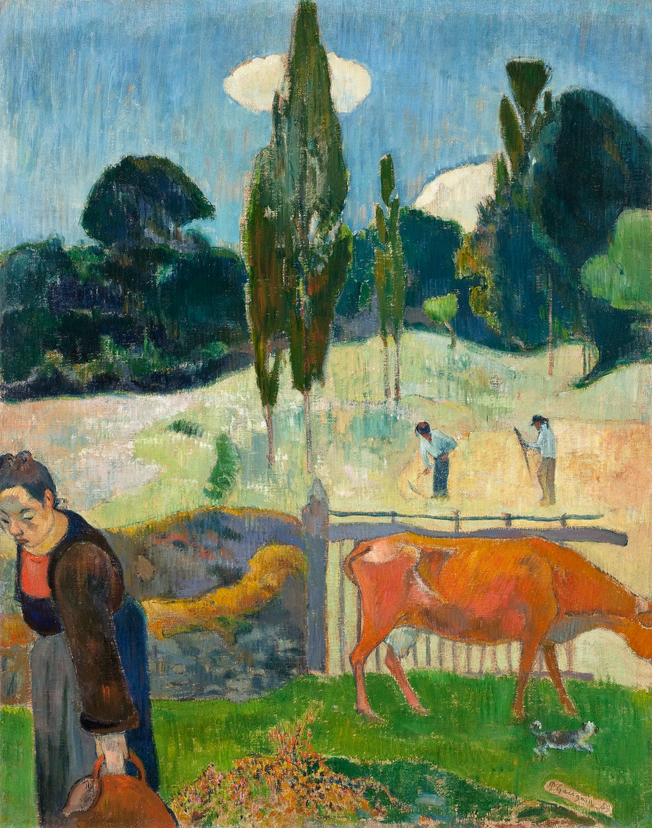 The Red Cow (1889) by Paul Gauguin. Original from the Los Angeles County Museum of Art. Digitally enhanced by rawpixel.