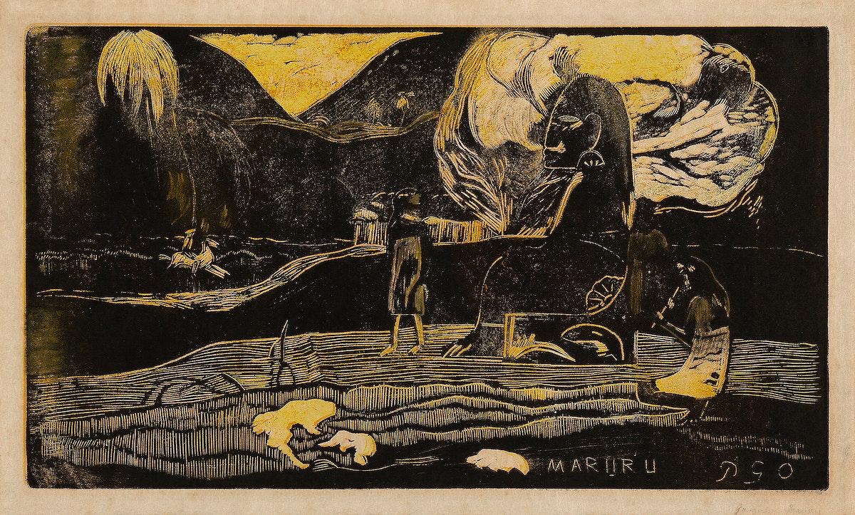 Offerings of Gratitude (Maruru), from the Noa Noa Suite (ca.1893–1894) by Paul Gauguin. Original from The Art Institute…