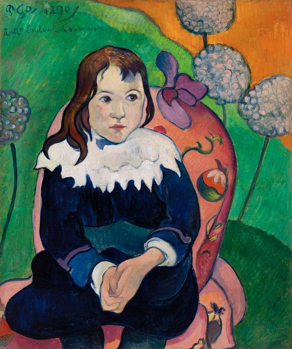 Mr. Loulou (Louis Le Ray) (1890) by Paul Gauguin. Original from Barnes Foundation. Digitally enhanced by rawpixel.