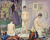 """Models (Poseuses) (ca. 1886&ndash;1888) by <a href=""""https://www.rawpixel.com/search/Georges%20Seurat?sort=curated&amp;type=all&amp;page=1"""">Georges Seurat</a>. Original from Barnes Foundation. Digitally enhanced by rawpixel."""