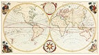 Bowles's new pocket map of the world: laid down from the latest observations and comprehending the new discoveries to the present time, particularly those lately made in the southern seas by Bowles Carington. Original from The Beinecke Rare Book & Manuscript Library. Digitally enhanced by rawpixel.