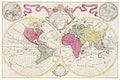 Mappa totius mundi: adornata juxta observationes (1682) by Guilielmum de l'Isle. Original from The Beinecke Rare Book & Manuscript Library. Digitally enhanced by rawpixel.