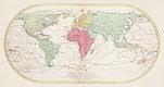 Mappe Monde ou Carte générale de l'Univers (1782) by Mathieu Albert Lotter. Original from The Beinecke Rare Book & Manuscript Library. Digitally enhanced by rawpixel.