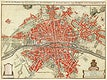 Plattegrond van Parijs (ca. 1721–1774) by Guillaume Delisle. Original from The Rijksmuseum. Digitally enhanced by rawpixel.