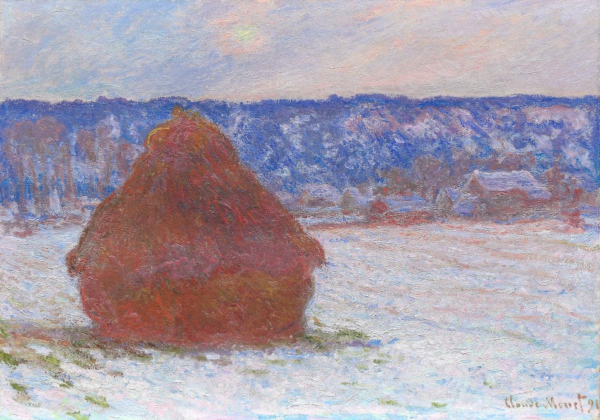 Monet haystack painting