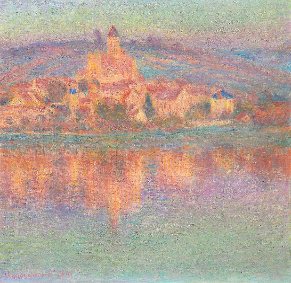 Vétheuil (1901) by Claude Monet. Original from the Art Institute of Chicago. Digitally enhanced by rawpixel.