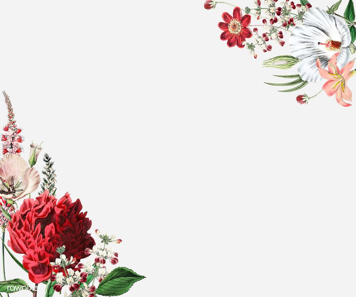 Download premium illustration of Colorful vintage floral border design