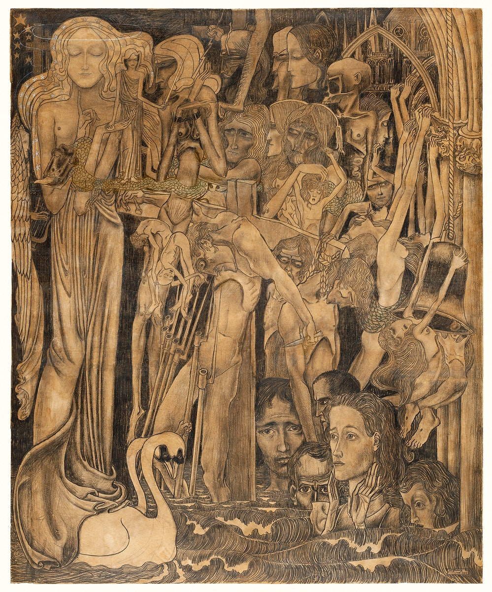 Loss of Faith (1894) by Jan Toorop. Original from The Rijksmuseum. Digitally enhanced by rawpixel.