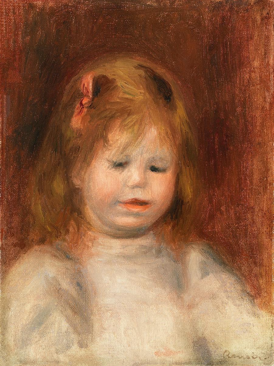 Portrait of Jean Renoir (Portrait de Jean Renoir) (1897) by Pierre-Auguste Renoir. Original from Barnes Foundation. Digitally…
