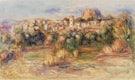 "Landscape, La Gaude (Paysage, La Gaude) (1910) by <a href=""https://www.rawpixel.com/search/Pierre-Auguste%20Renoir?sort=curated&amp;page=1"">Pierre-Auguste Renoir</a>. Original from Barnes Foundation. Digitally enhanced by rawpixel."