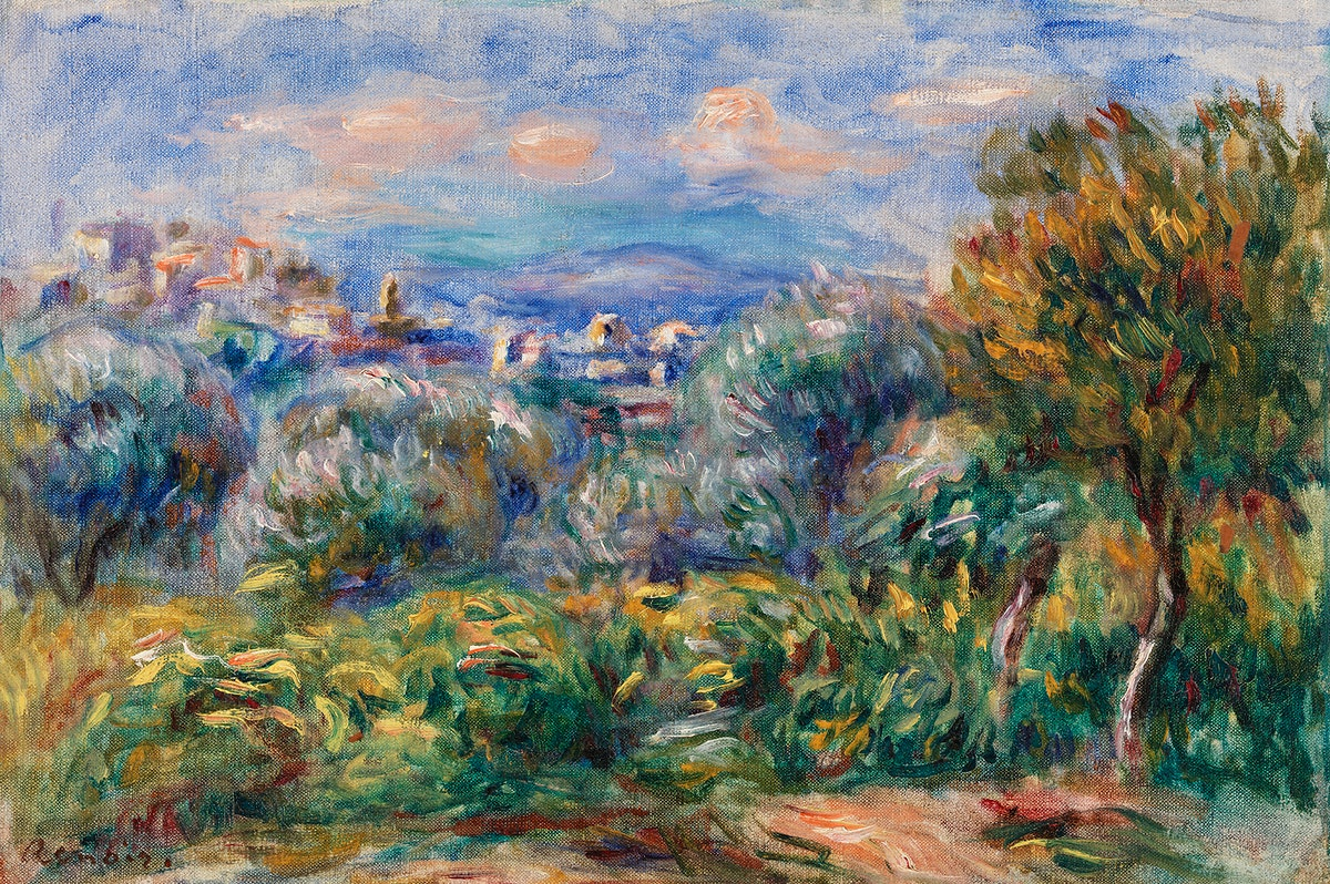 Landscape (Paysage) (1917) by Pierre-Auguste Renoir. Original from Barnes Foundation. Digitally enhanced by rawpixel.