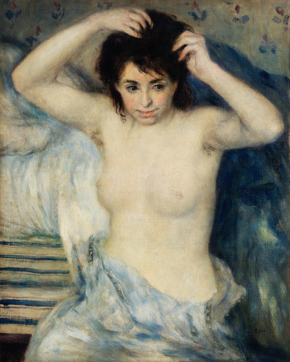 Before the Bath (Avant le bain) (1875) by Pierre-Auguste Renoir. Original from Barnes Foundation. Digitally enhanced by…