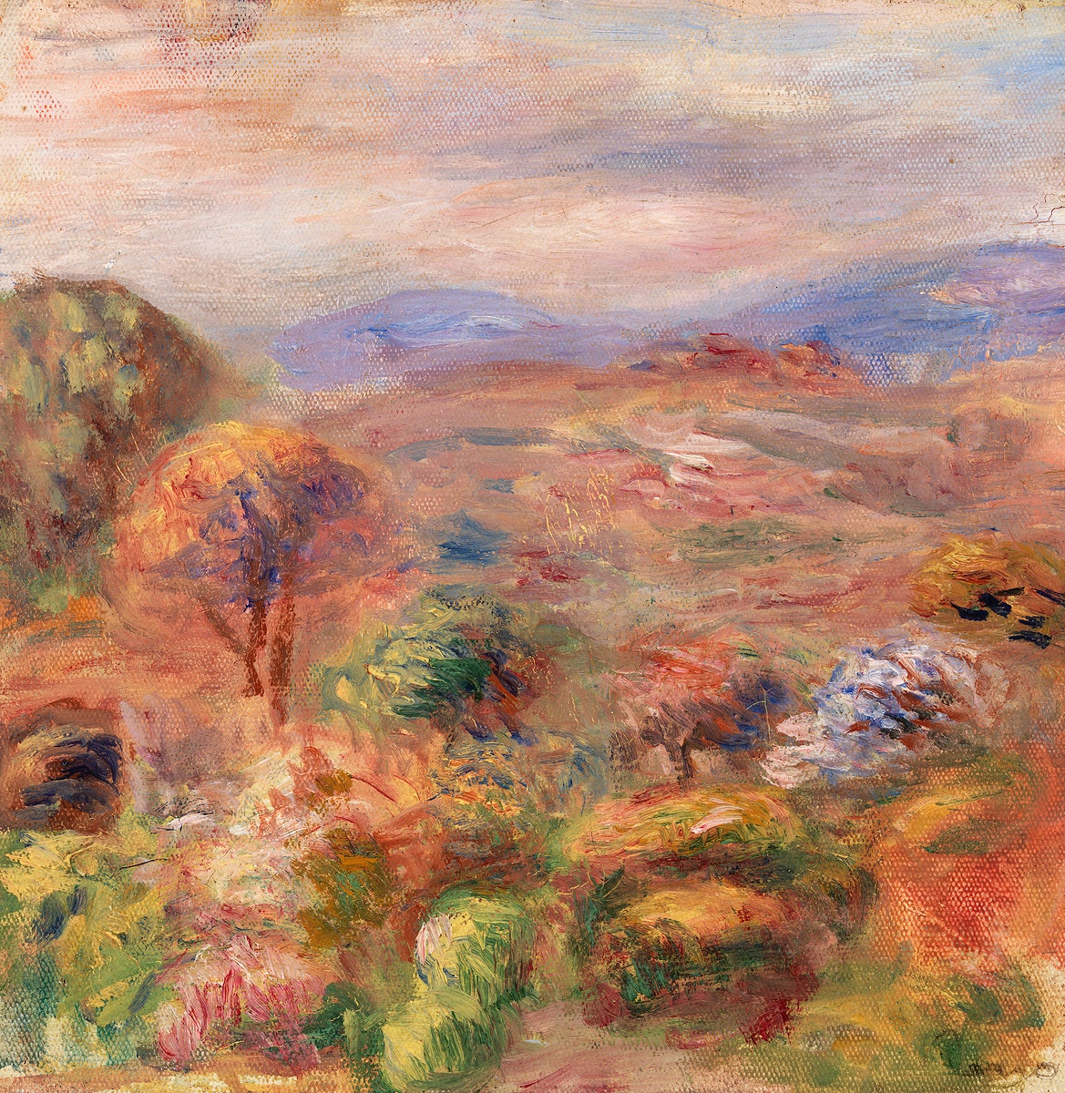 Landscape (Paysage) (1911) by Pierre-Auguste Renoir. Original from Barnes Foundation. Digitally enhanced by rawpixel.