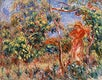 """Woman in Red in a Landscape (Femme en rouge dans un paysage) (1917) by <a href=""""https://www.rawpixel.com/search/Pierre-Auguste%20Renoir?sort=curated&amp;page=1"""">Pierre-Auguste Renoir</a>. Original from Barnes Foundation. Digitally enhanced by rawpixel."""