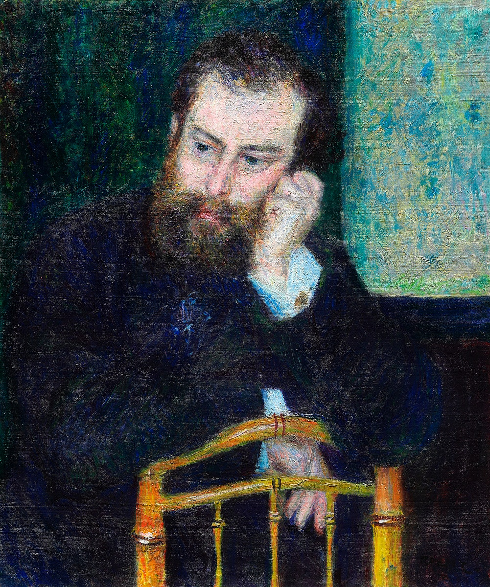 Alfred Sisley (1876) by Pierre-Auguste Renoir. Original from The Art Institute of Chicago. Digitally enhanced by rawpixel.