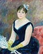 """Madame L&eacute;on Clapisson (1883) by <a href=""""https://www.rawpixel.com/search/Pierre-Auguste%20Renoir?sort=curated&amp;page=1"""">Pierre-Auguste Renoir</a>. Original from The Art Institute of Chicago. Digitally enhanced by rawpixel."""