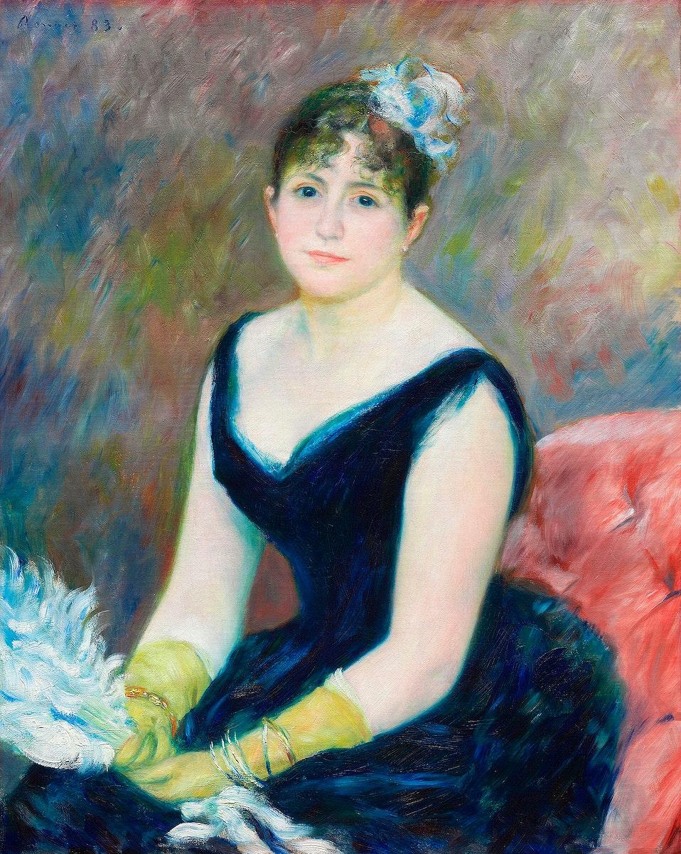 Madame Léon Clapisson (1883) by Pierre-Auguste Renoir. Original from The Art Institute of Chicago. Digitally enhanced…