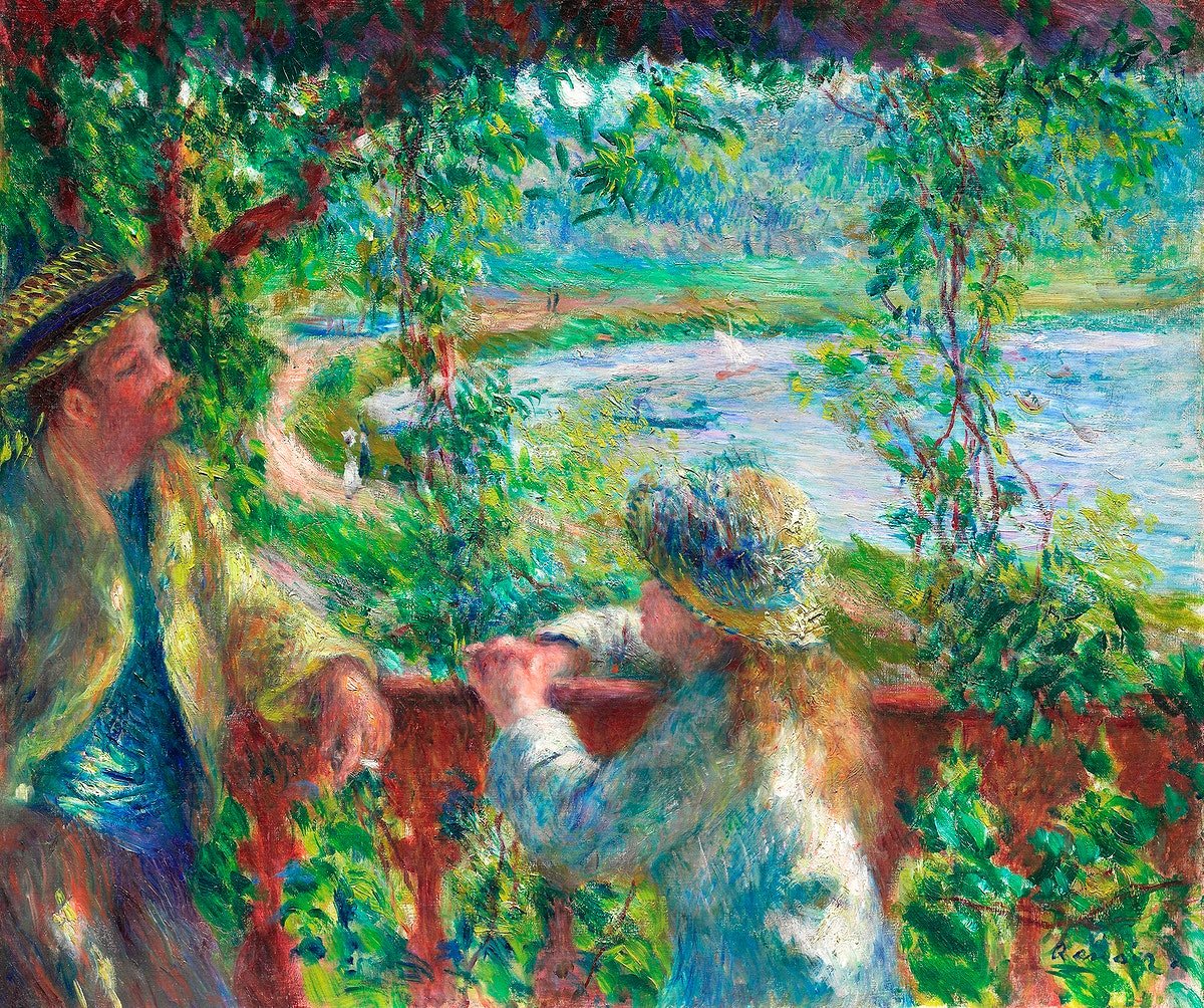 Near the Lake (1879–1890) by Pierre-Auguste Renoir. Original from The Art Institute of Chicago. Digitally enhanced by…