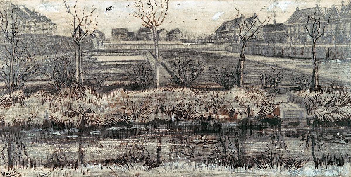 Nursery on Schenkweg (1882) by Vincent Van Gogh. Original from the MET Museum. Digitally enhanced by rawpixel.