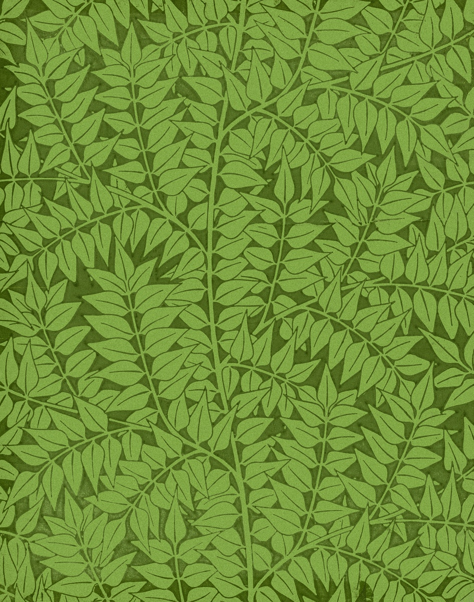 Branch pattern (1872) by William Morris. Original from The Smithsonian Institution. Digitally enhanced by rawpixel.