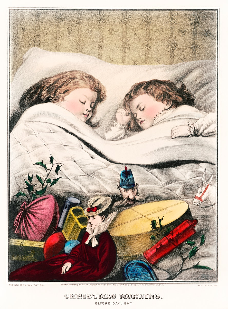 Christmas Morning–Before Daylight (1871) by The Kellogg & Bulkeley Co. Original from Library of Congress. Digitally…