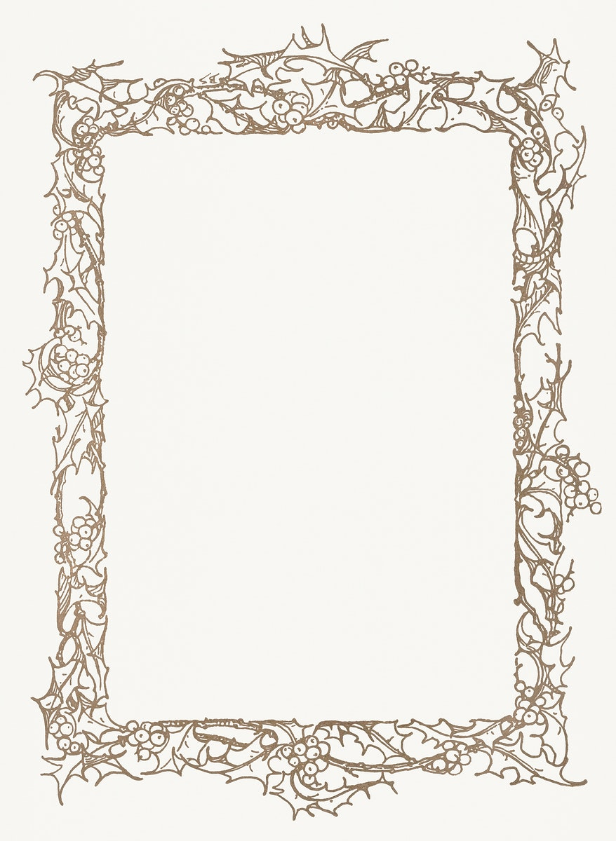 Vinatge gold frame in white background