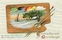 Vintage Christmas Postcard by International Art Publishing Co. Original from The New York Public Library. Digitally enhanced by rawpixel.