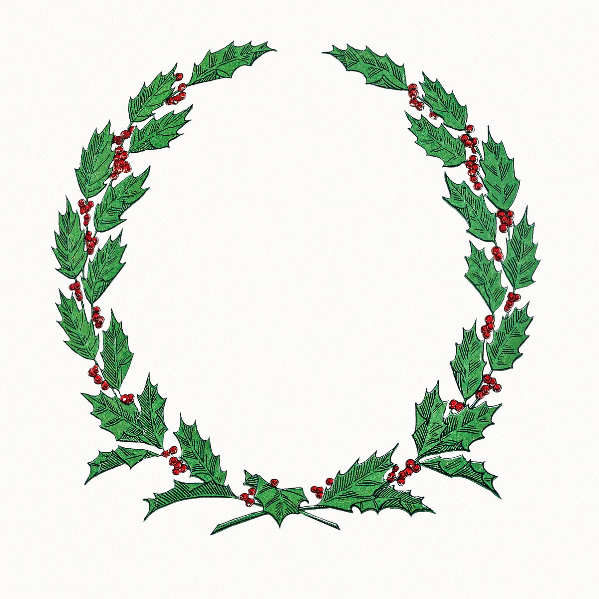 Festive Christmas wreath design illustration
