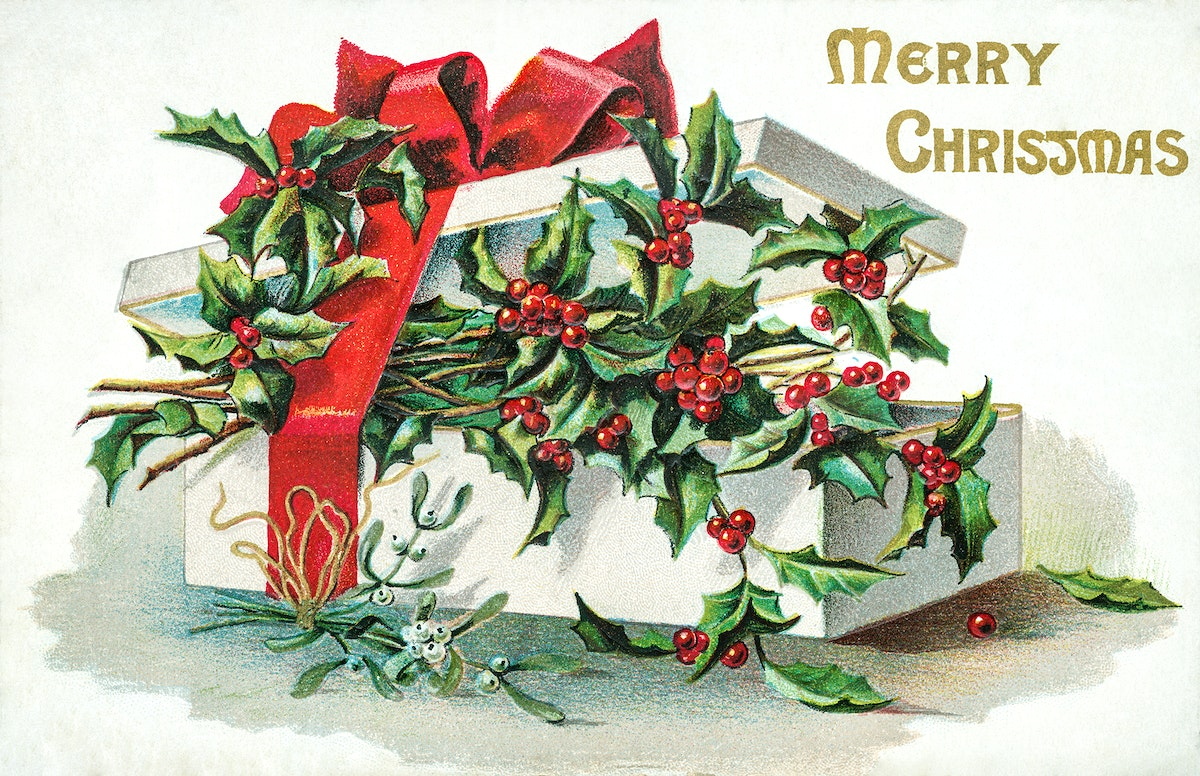 Vintage Christmas Card (1906) by H. I. Robbins Publisher. Original from The New York Public Library. Digitally enhanced by…