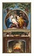 """Christmas Card Depicting a Fireplace and a Manger Scene (1865&ndash;1899) by <a href=""""https://www.rawpixel.com/search/l.%20prang?sort=curated&amp;type=all&amp;page=1"""">L. Prang &amp; Co</a>. Original from The New York Public Library. Digitally enhanced by rawpixel."""