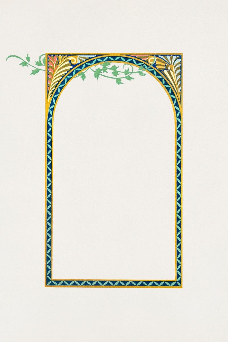 Blank leafy frame design illustration