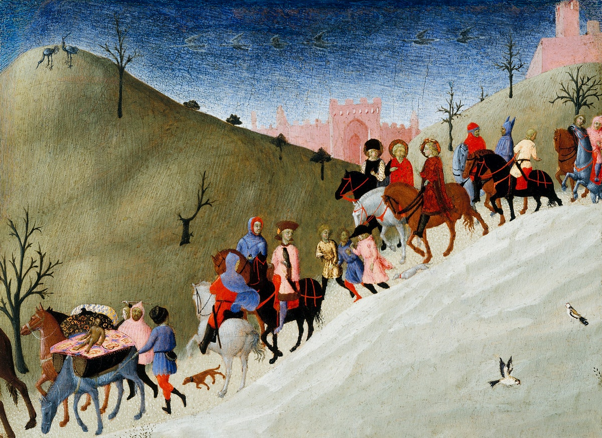 The Journey of the Magi (ca. 1433–35) by Stefano di Giovanni. Original from The MET Museum. Digitally enhanced by…