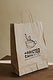 Natural brown paper bag mockup