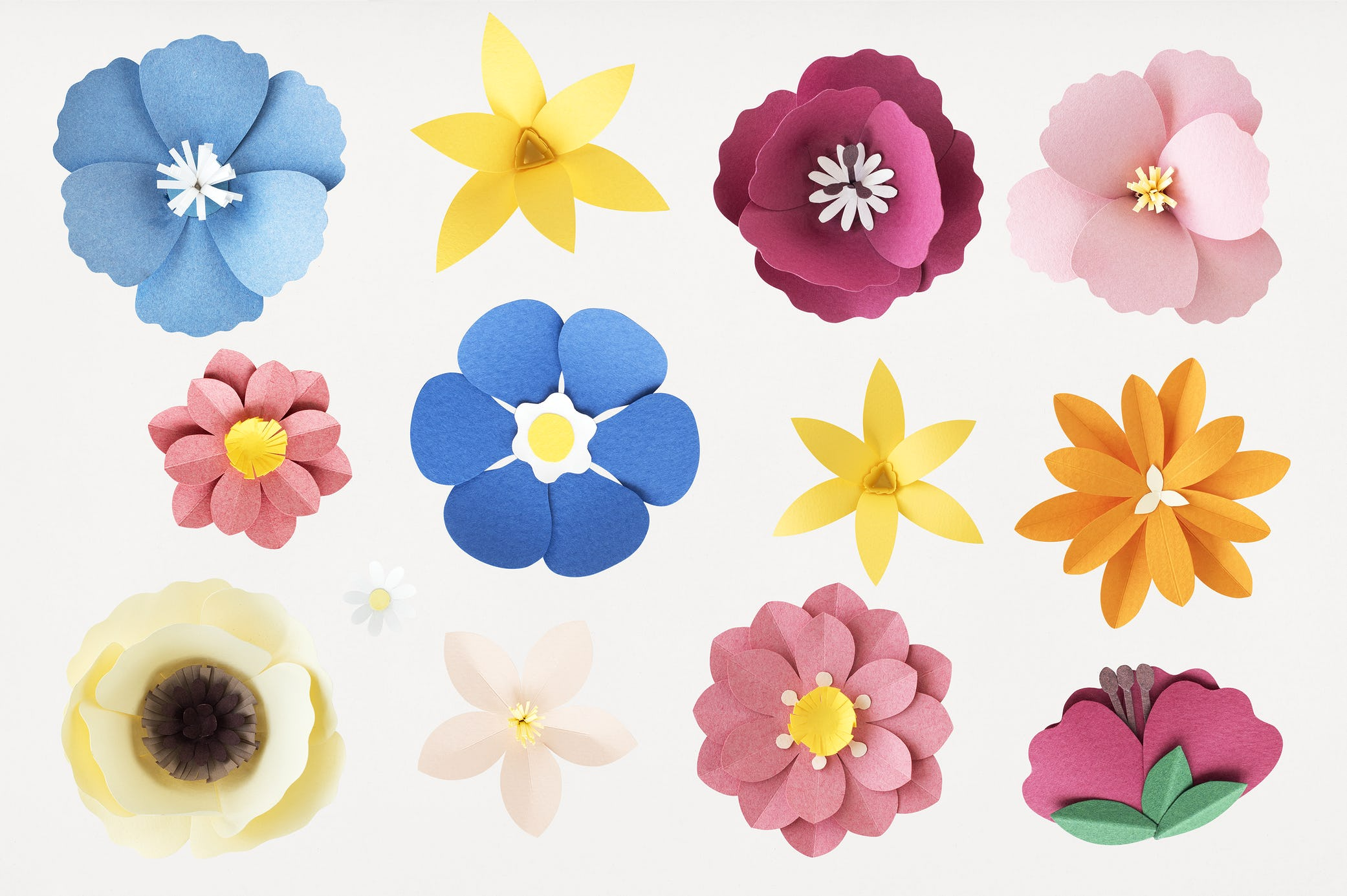 Paper craft summer flowers set of flowers and plants made out of paper plants paper paper craft mightylinksfo