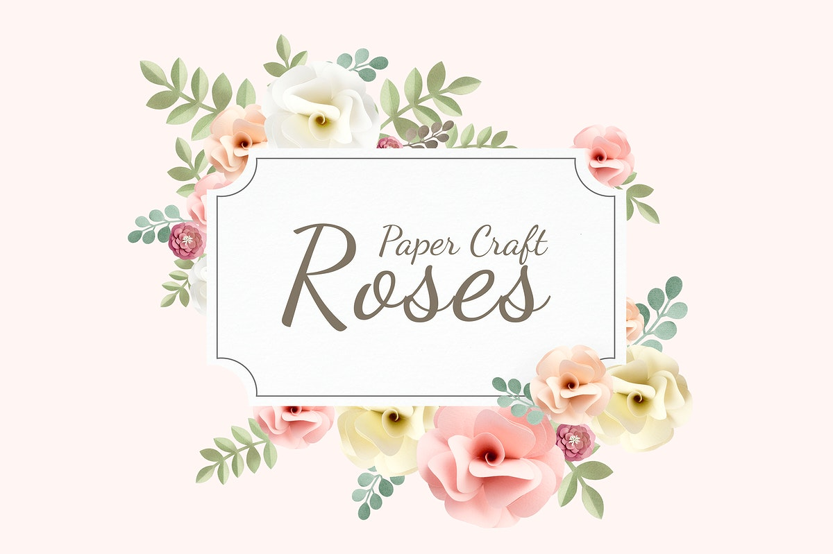 Rose paper craft set