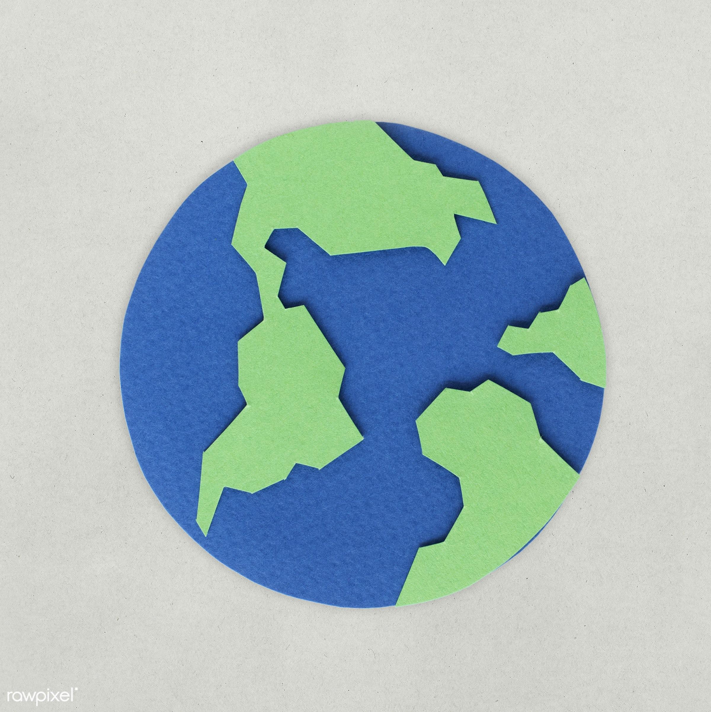 Paper Craft Design Of Globe Icon Id 261545