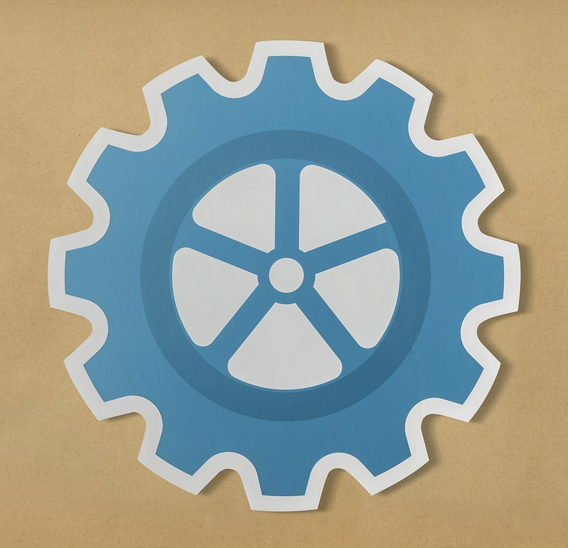 how to cut a cog out of paper