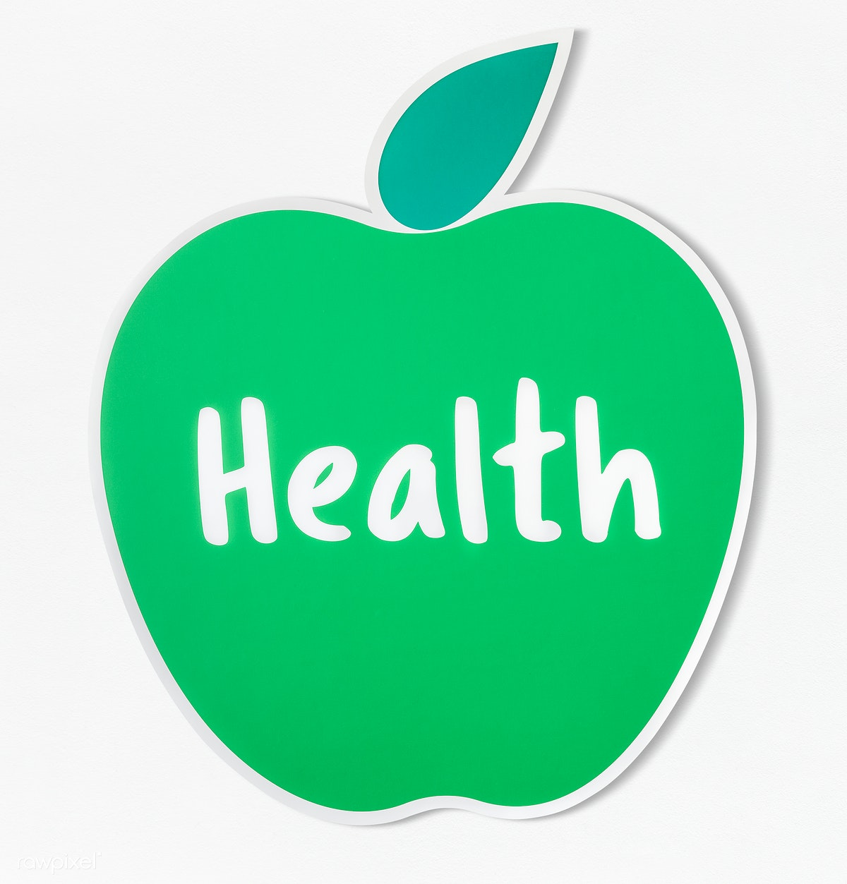 Download premium psd of Good health fresh apple icon 402324