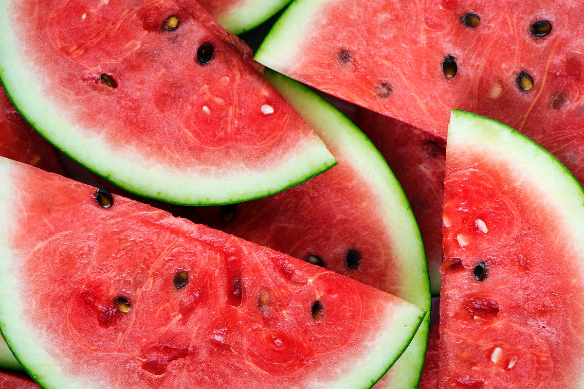Slices of juicy red watermelon