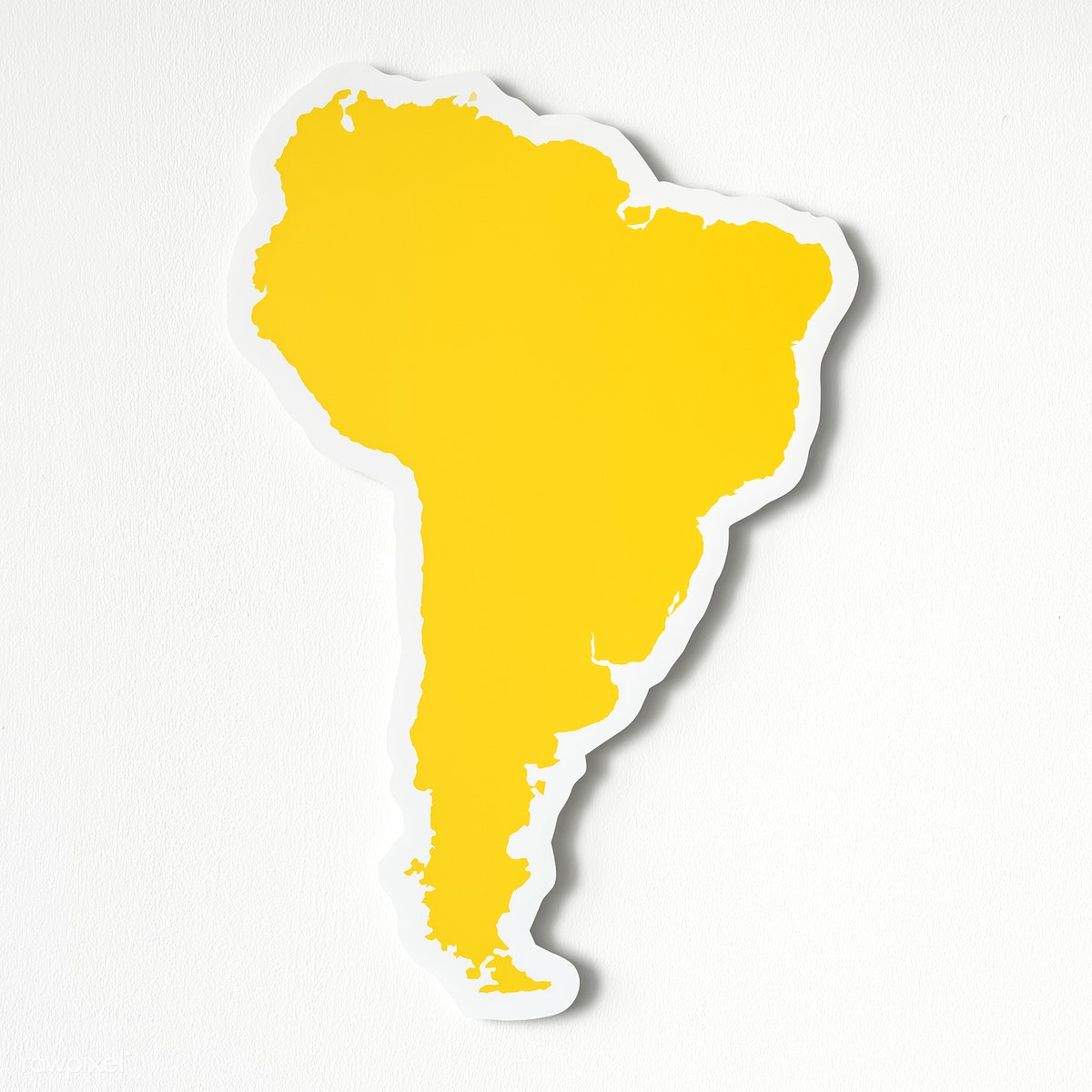 Blank map of South America   Free stock photo - 402540